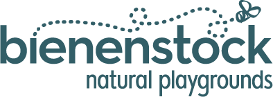 Bienenstock Natural Playgrounds Logo - Blue